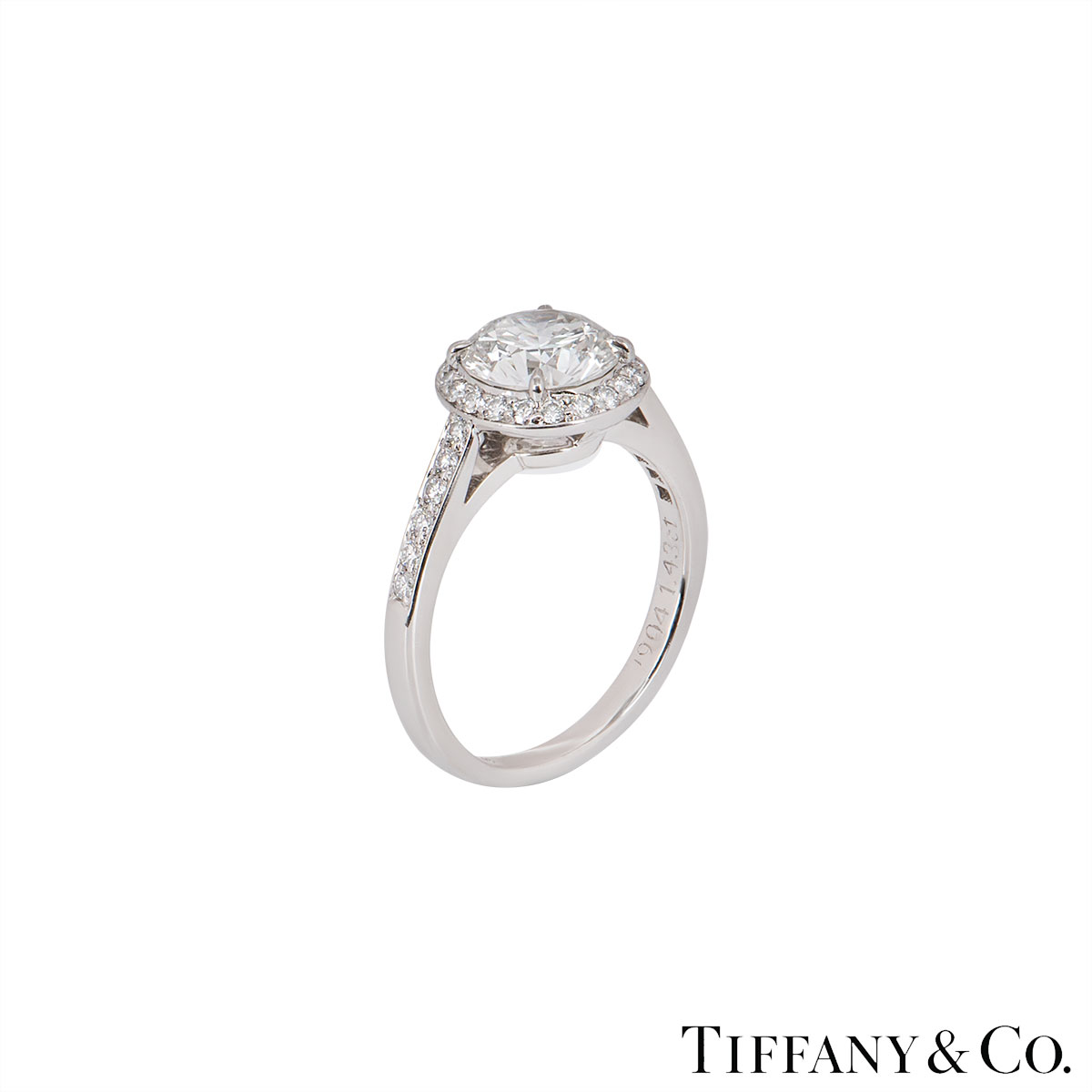 Tiffany & Co. Platinum Diamond Soleste Ring 1.43ct H/IF